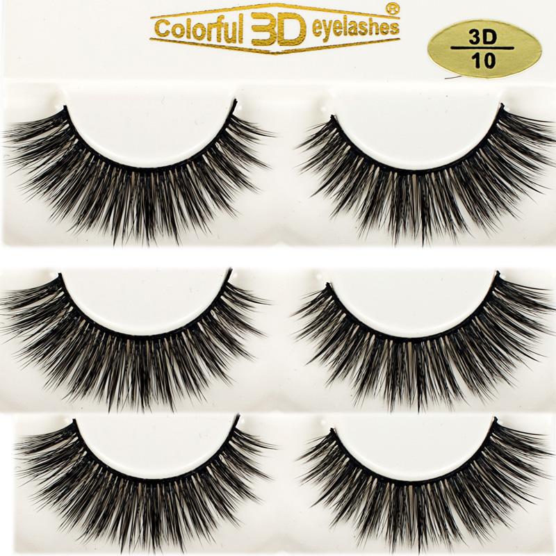 3D Silk diamond grade lashes China suppliers Wholesale 3 pairs 3D10
