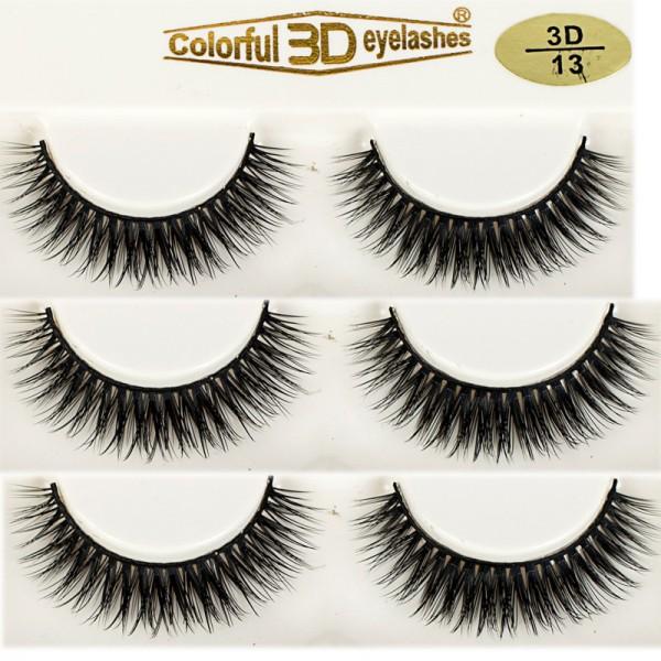 Wholesale 3D Silk diamond grade lashes Suppliers 3 pairs 3D13