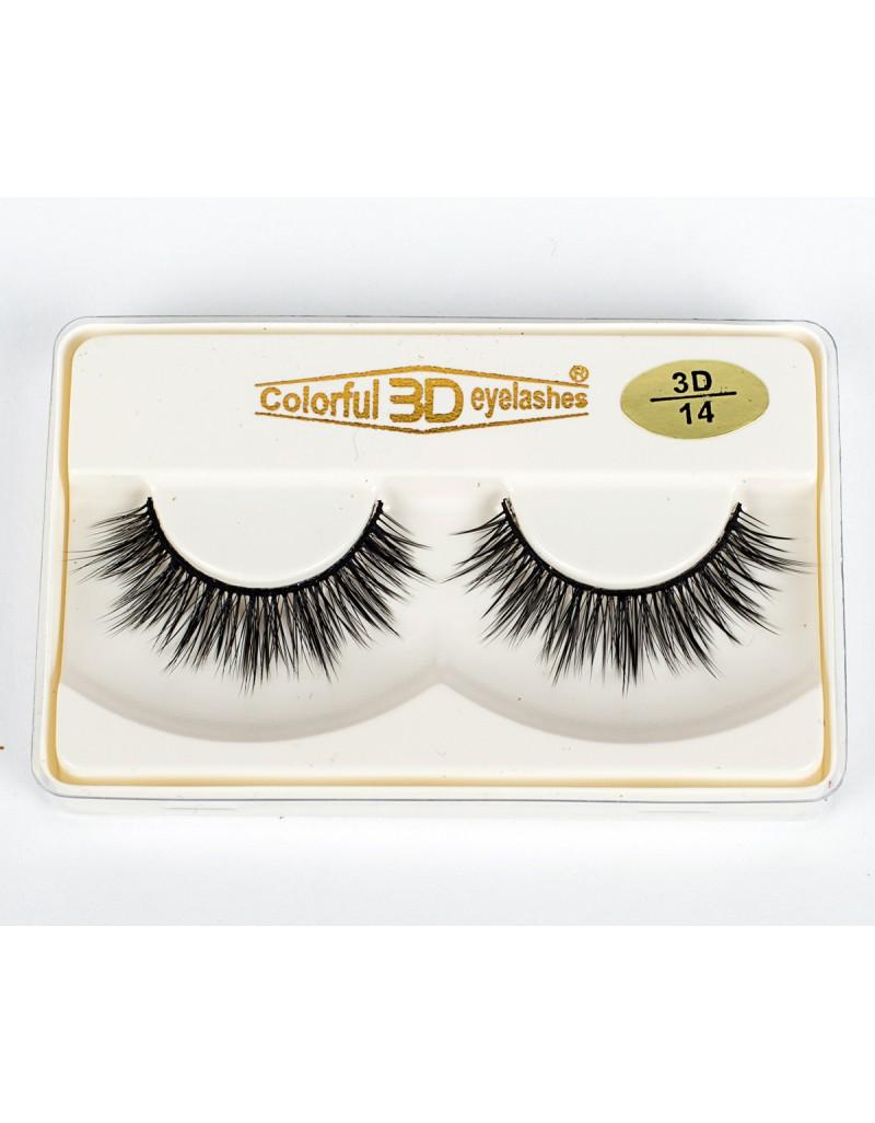 Wholesale Price 3D Silk diamond grade lashes Factory Price 3 pairs 3D14