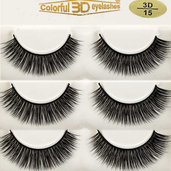High Quality 3D Silk diamond grade lashes Factory Price 3 pairs 3D15