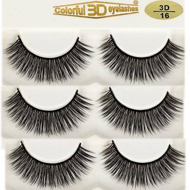 Wholesale 3D Silk diamond grade lashes Factory 3 pairs 3D16