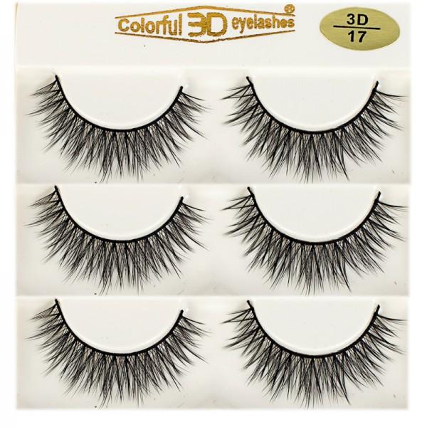 Whosale Best quality 3D Silk diamond grade lashes Factory Price 3 pairs 3D17