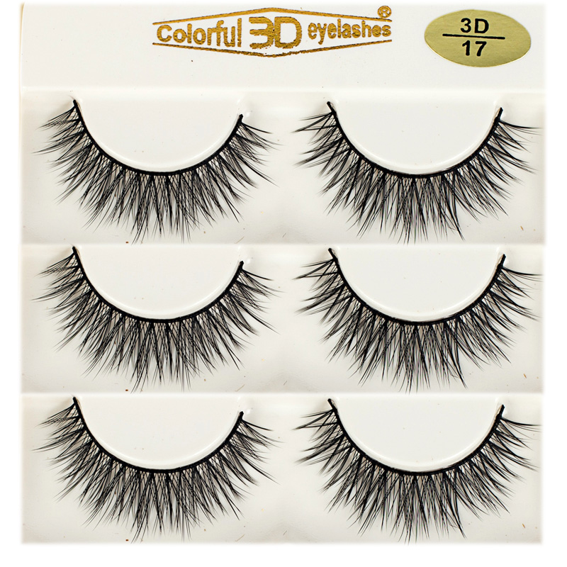 Whosale Best quality 3D Silk diamond grade lashes Factory Price 3 pairs 3D17