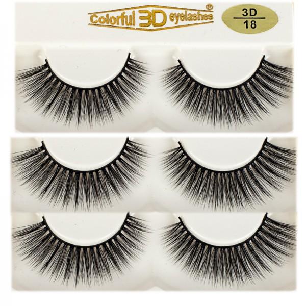 Wholesale High Quality 3D Silk diamond grade lashes 3 pairs 3D18