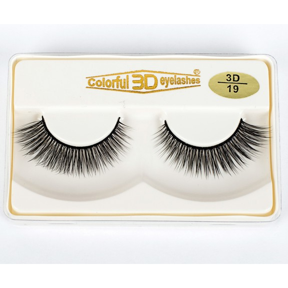 100% handmade Factory Price High Quality 3D Silk diamond grade lashes 3 pairs 3D19