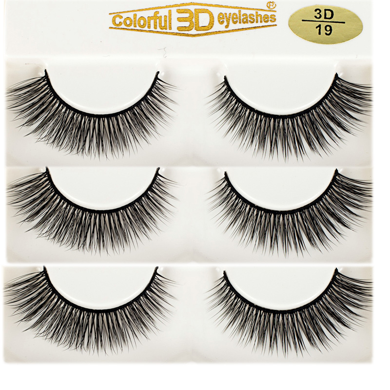 100% handmade lash Factory  wholesale High Quality 3D Silk diamond grade lashes 3 pairs 3D19