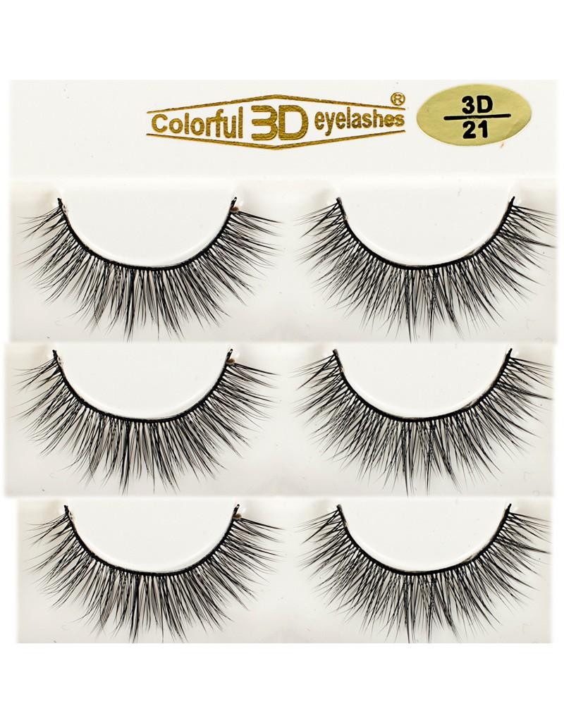 Natural Looking Silk Lashes 3D Silk diamond grade lashes 3 pairs 3D21