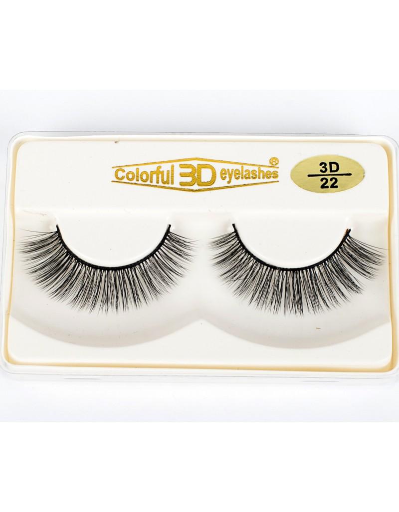 Wholesale Price 3D Silk diamond grade lashes 3 pairs 3D22