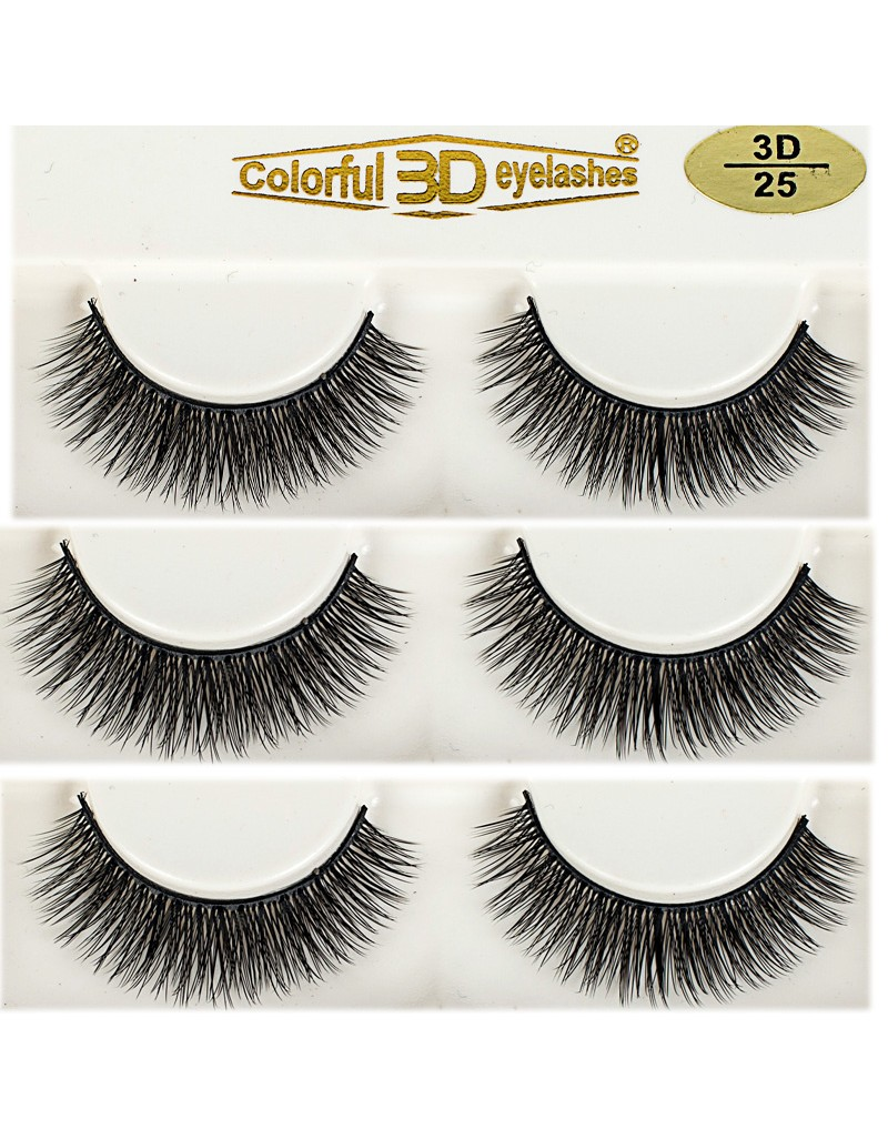 3D Silk diamond grade lashes Manufacturers Wholesale Price 3 pairs 3D25