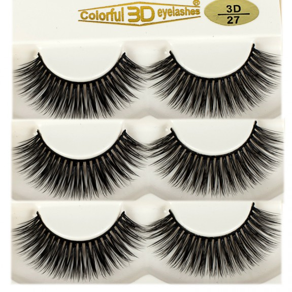 3D Silk diamond grade lashes Manufacturers Supplier 3 pairs 3D27