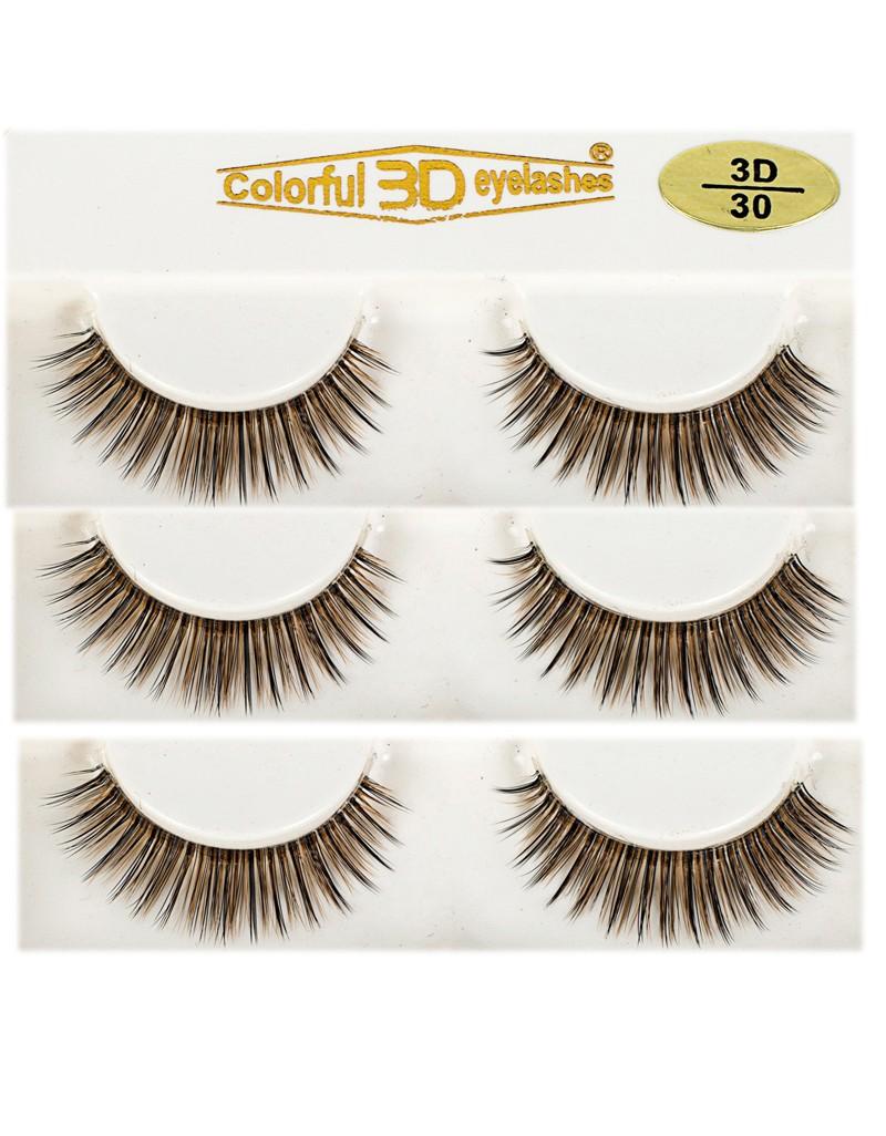 Hot Selling 100% handmade 3D Silk diamond grade lashes 3 pairs 3D30