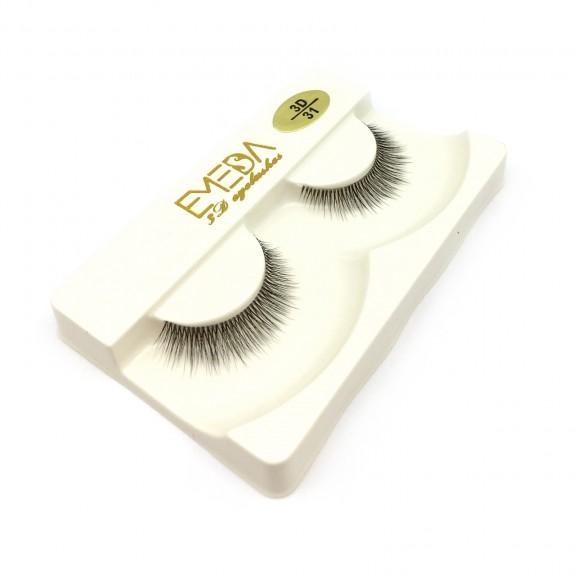 Soft 100% handmade 3D Silk diamond grade lashes 3 pairs 3D31