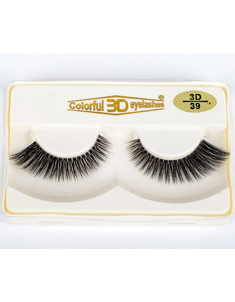 Wholesale Price Natural Looking 3D Silk diamond grade lashes 3 pairs 3D39