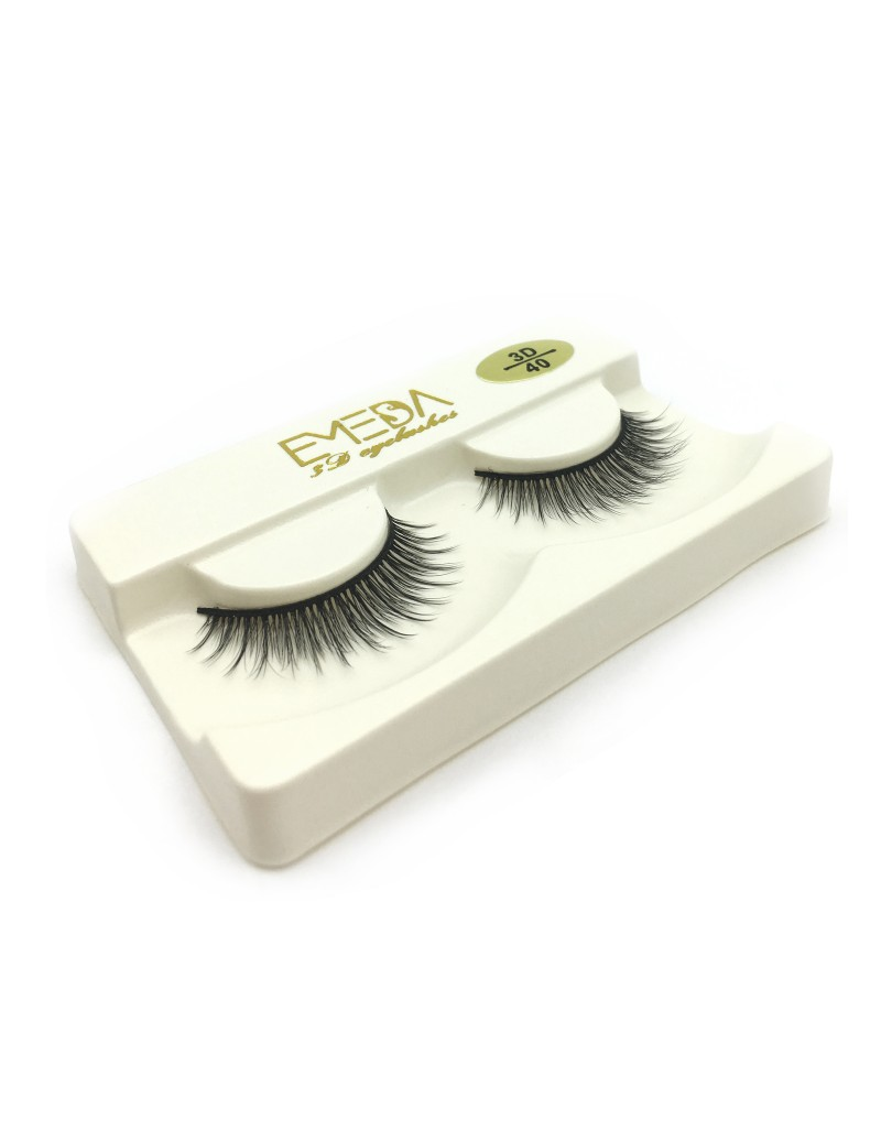 Best Selling 3D Silk diamond grade lashes Factory Price 3 pairs 3D40