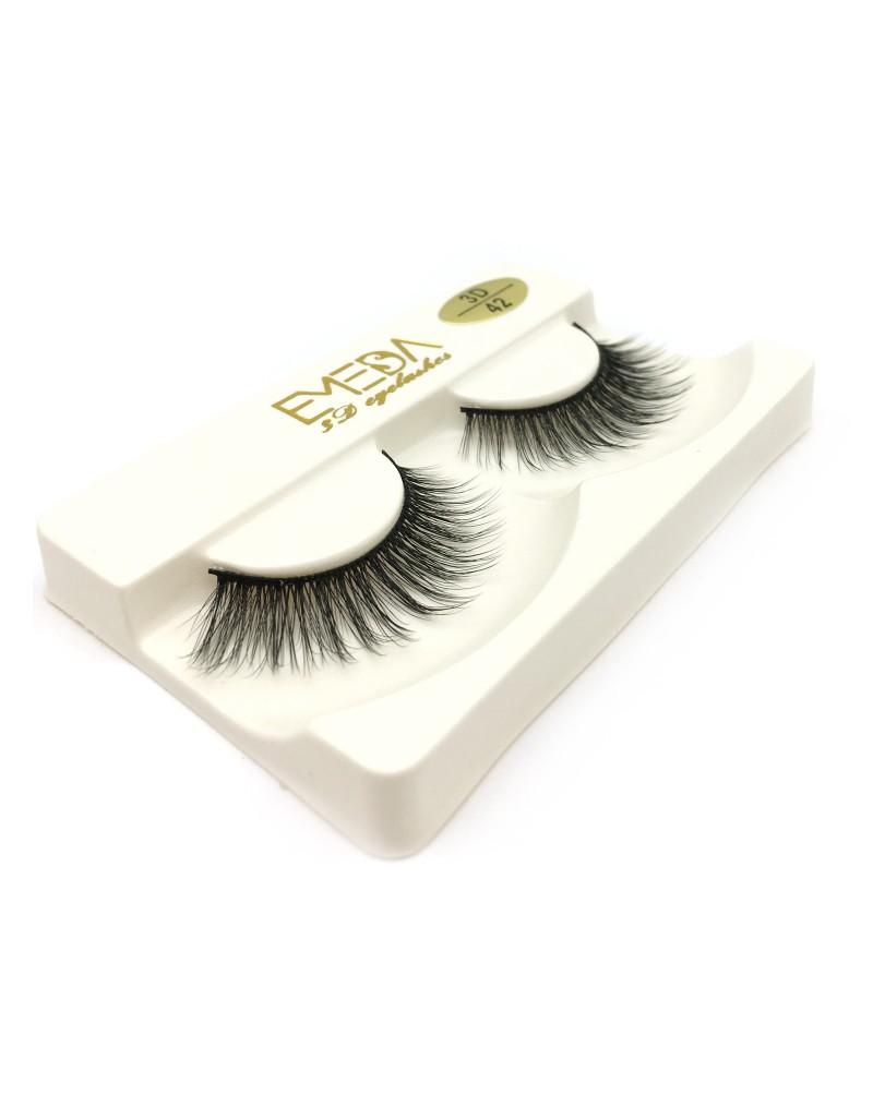 Most Popular Style 3D Silk diamond grade lashes Factory Price 3 pairs 3D42