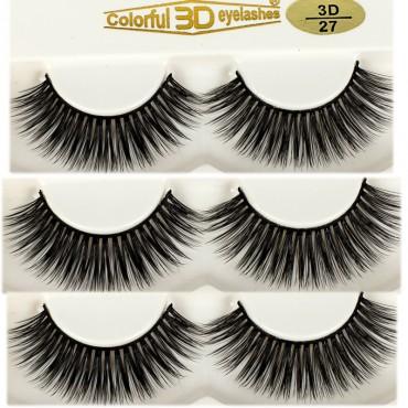 Manufacturers 3D Silk diamond grade lashes Factory Price 3 pairs 3D44