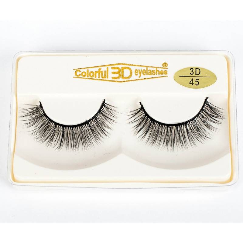Wholesale Factory Price 3D Silk diamond grade lashes Natural Looking 3 pairs 3D45