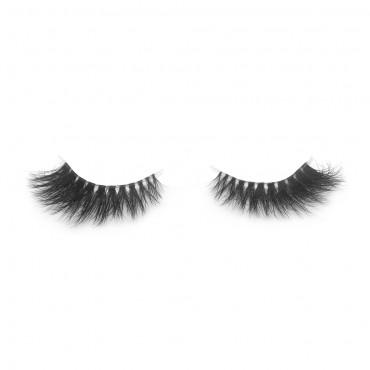 3D Mink Crown Grade 100% Siberian Fur Fake Eyelashes C02