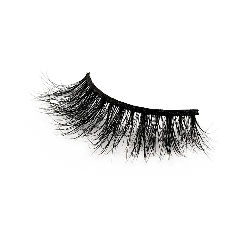High-qulaity Real Mink Fur 3D Mink Strip Lashes Diamond Grade D113