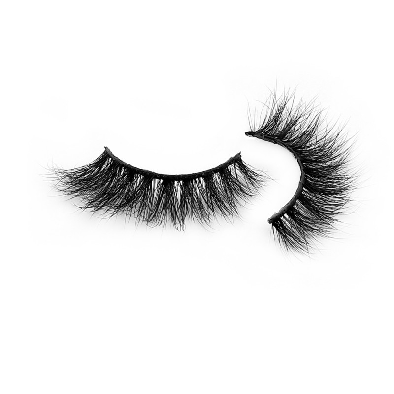 Premium  Real Mink Fur 3D Strip Lashes Diamond Grade D118