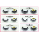 Big Sale Natural Looking 3D Mink Fur Fake Eyelashes 3D01-3D06