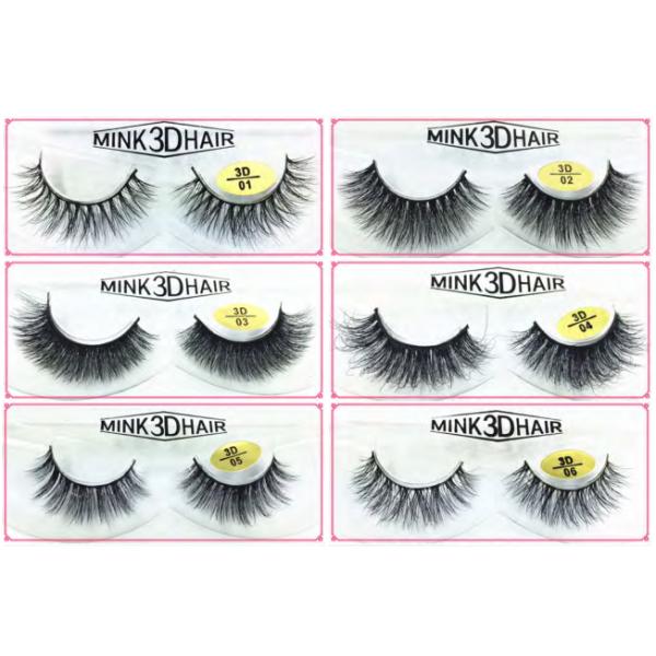 Natural Looking 3D Mink Fur Fake Eyelashes 3D01-3D06