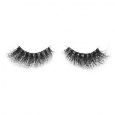 Hand-made Natural Messy False Eyelashes most fashionable 3D style mink fur false eyelash