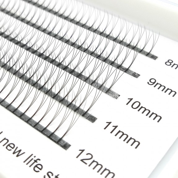 200PCS 3D 0.07mm 0.01mm C D Curl  8-12mm Mix Length Premade Volume Fans Eyelash Extensions wholesale vendors