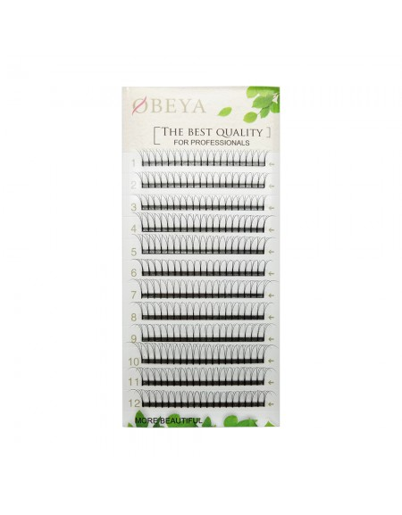 0.10mm 3D C Curl 8-14mm Mix Length Premade Volume Fans Eyelash Extensions False Fake Individual Eyelash Clusters Soft Natural Cluster Lashes For Professionals