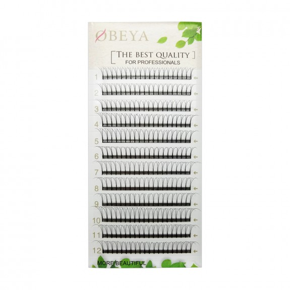 Wholesale 0.1mm 0.07mm C D Curl 8-14mm Mix Length and 11-15mm Single Length 3D Premade Volume Fans Eyelash Extensions