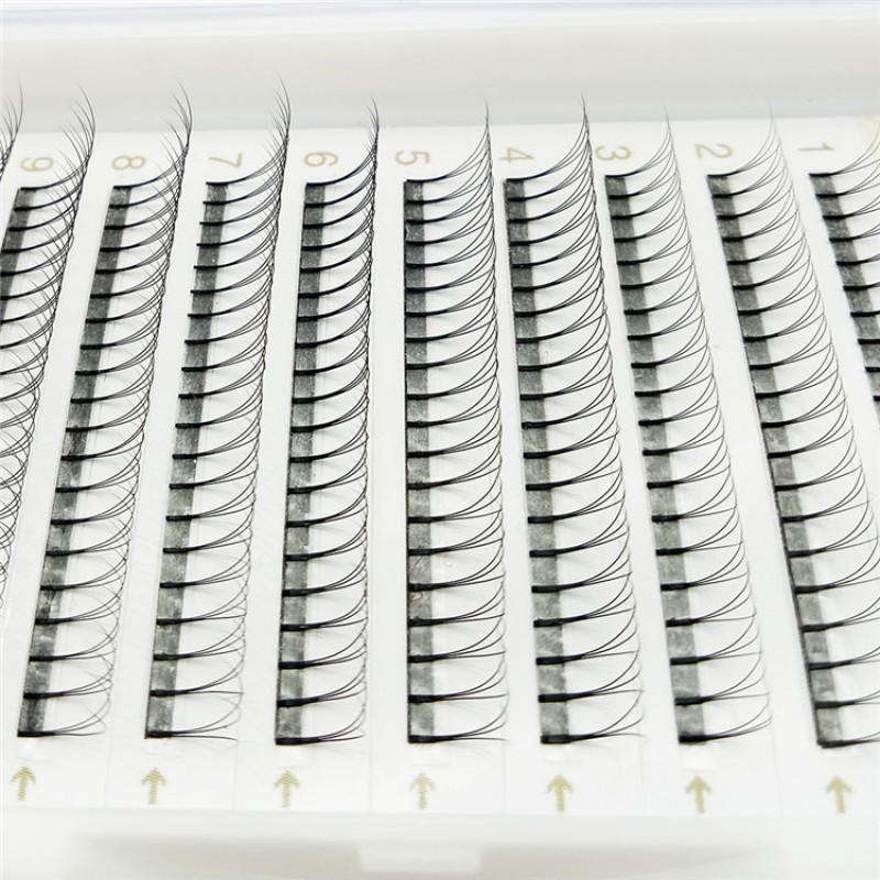 0.07mm 0.1mm Thickness C D Curl 8-14mm mix length and 11-18mm Single Length Premade Volume Fans Eyelash Wholesale eyelash Vendors