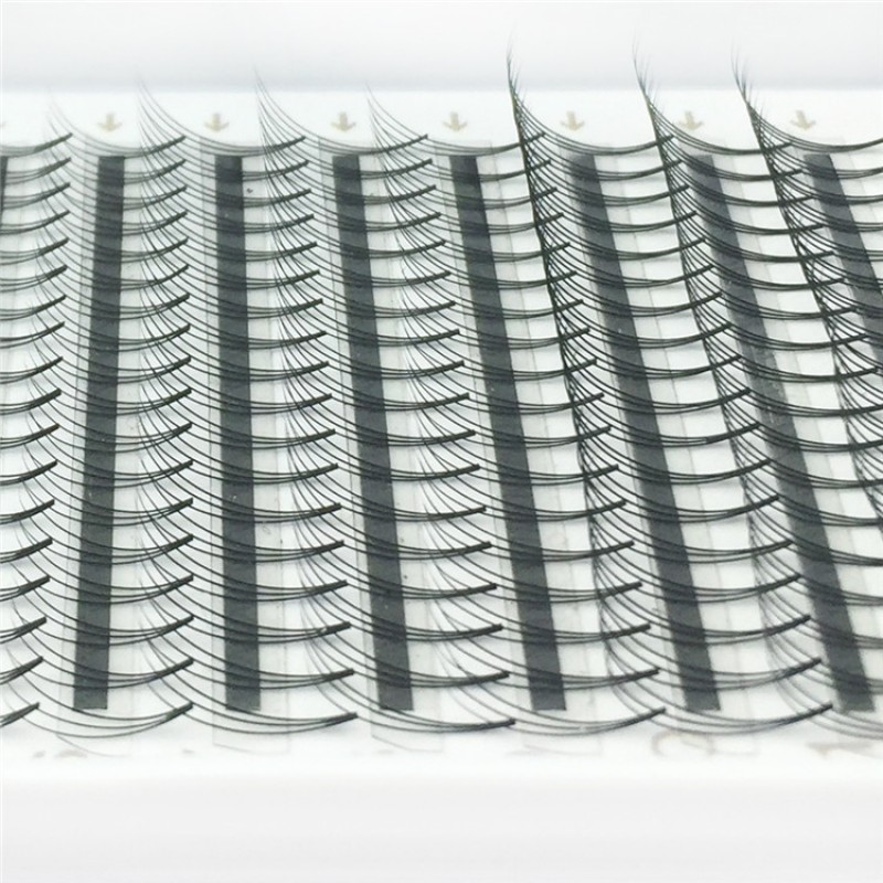 Wholesale C D Curl 0.07mm 0.1mm 0.15mm Thickness 12mm Single Length  3D Premade Fans Eyelash Extension PBT Fiber