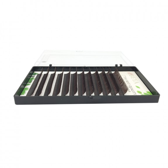 wholesale Colored eyelash extensions Black brown 0.07 Thickness C Curl Fake Eyelash Extensions Tray 8-16mm Natural Thick Lashes Individual Semi-Permanent Eyelashes Application for Professional Salon Use vendors