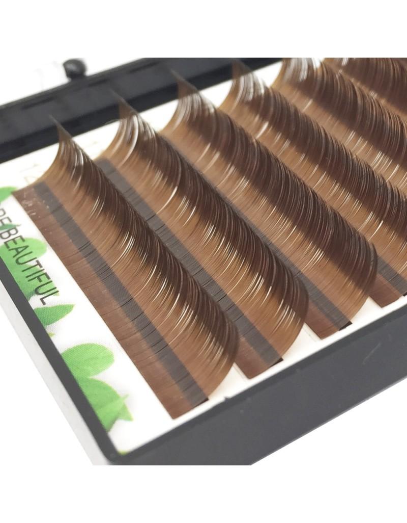 Dark Brown False Eyelash Extensions Individual Colorful Fake Eye Lashes Natural  Lashes Supplies 12 Rows 8-16mm Length (C Curl 0.07mm Thickness) wholesale vendors