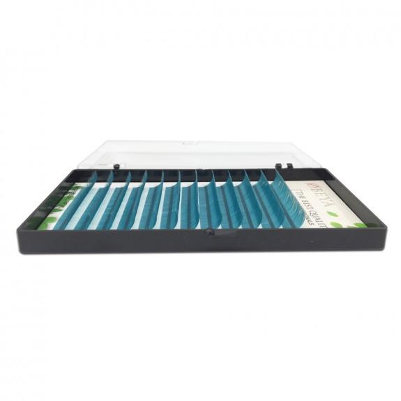 New C curl 0.07  8-16mm false lashes Sea blue eyelash individual colored lashes Faux volume eyelash extensions wholesale vendors