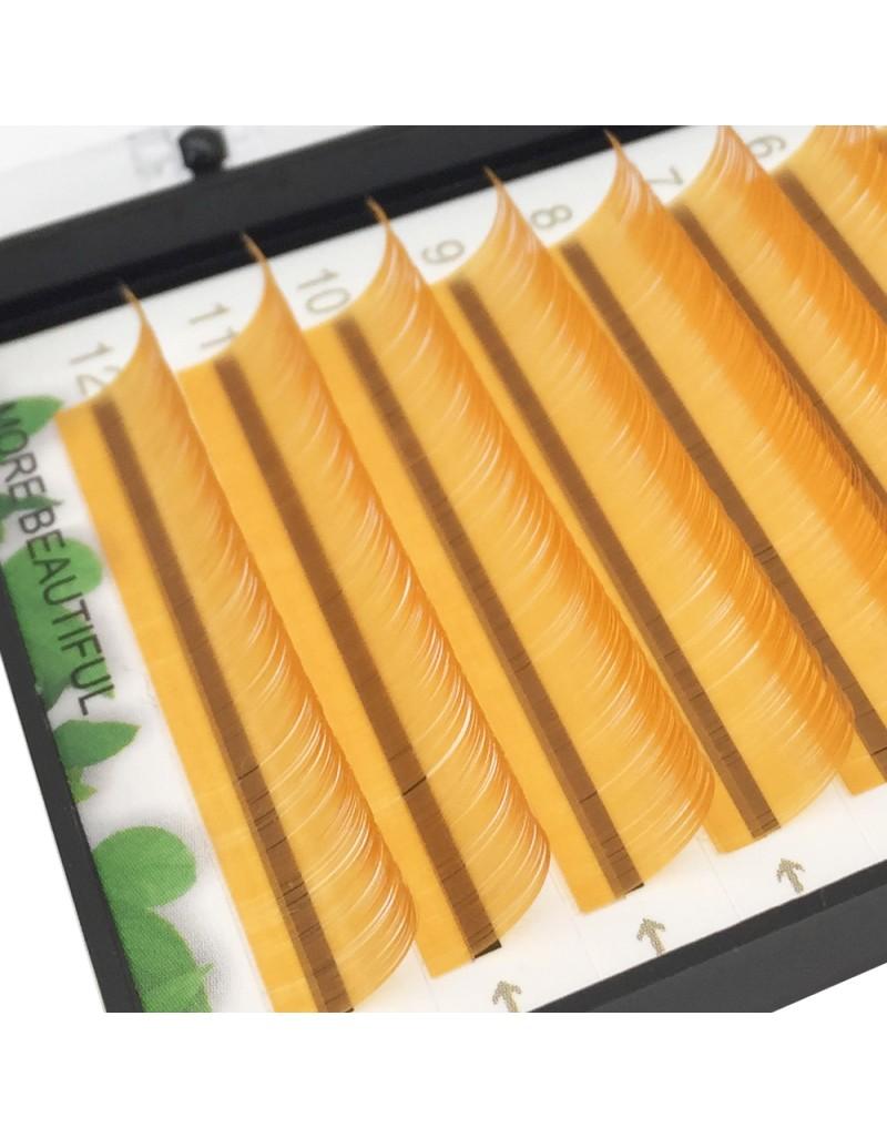 Lashes golden Series 0.07 Thickness 8-16mm C Curl Eyelash Extension Colored Lash Extension Volume Lash Extensions wholesale vendors