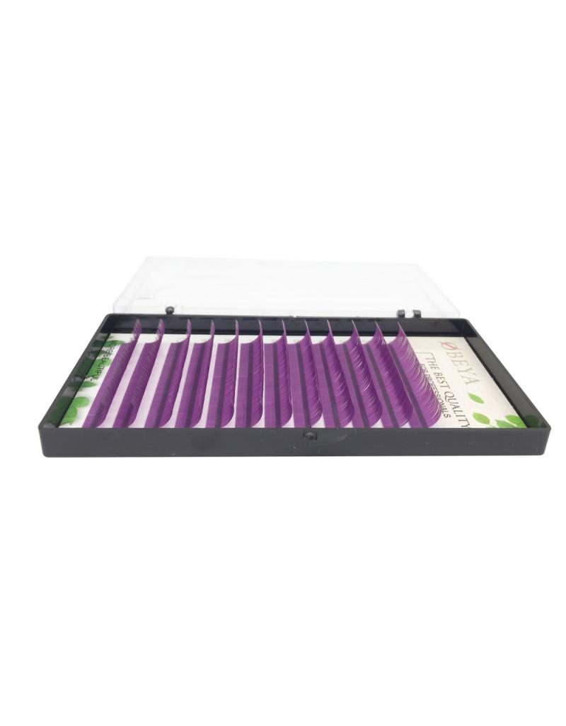 Alluring Mixed Size Purple Color Lashes for Eyelash Extenions C Curl 8mm-16mm  wholesale vendors
