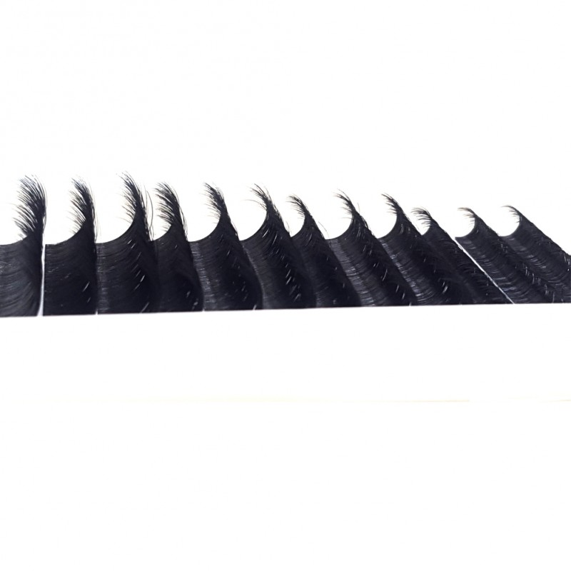 Wholesale J B C D Curl 12 Rows 8-14mm Mixed Tray 8 9 10 11 12 13 14 15 16 17mm single length Tray  Eyelash Extensions