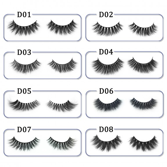 High Quality 3D Mink Lashes Diamond Grade D014