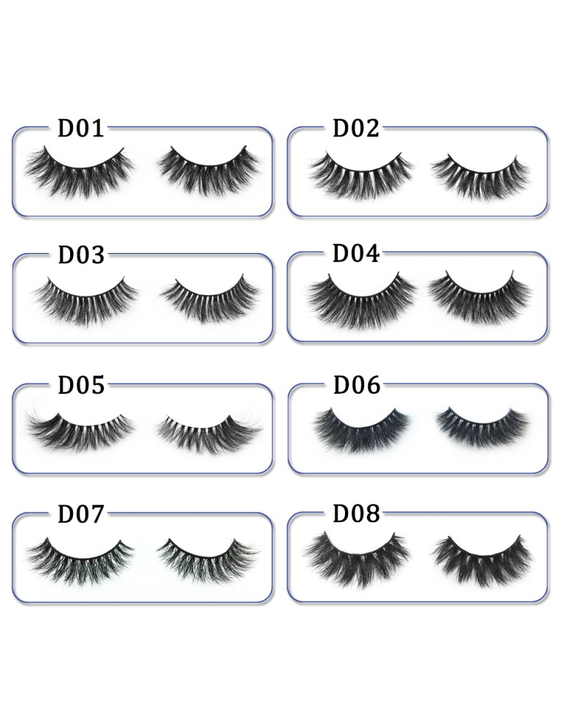 High Quality 3D Mink Lashes Diamond Grade D010