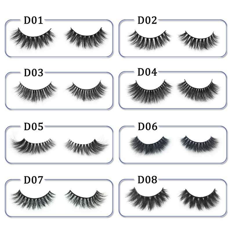 High Quality 3D Mink Lashes Diamond Grade D06
