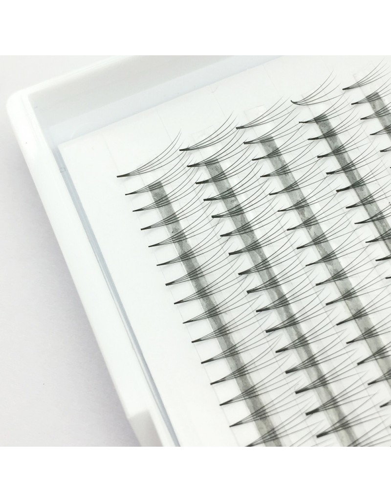 150PCS  Wholesale C D Curl  0.07mm 0.1mm Thickness 8-12mm Mix Length and 11-15mm Single Length 4D Premade Volume Eyelash Extensions