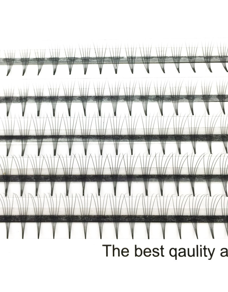 Wholesale 0.07mm 0.1mm Thickness C D Curl 8-12mm Mix Length and 11-15mm Single Length 5D Premade Volume Fans