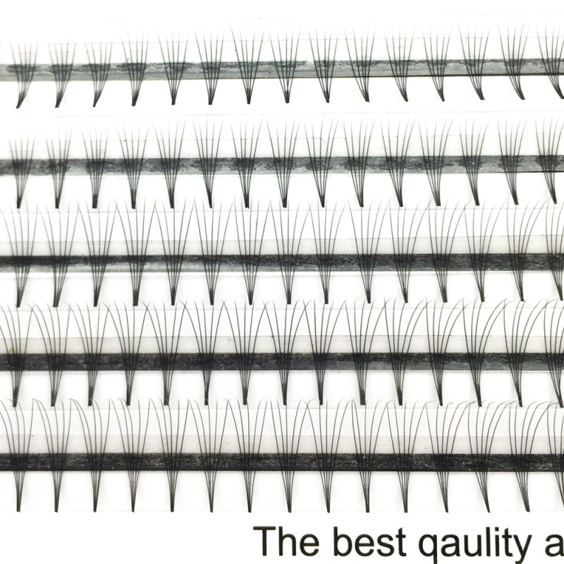Wholesale 0.07mm 0.1mm Thickness C D Curl 8-12mm Mix Length and 11-15mm Single Length 5D Premade Volume Fans 1 Tray/Set
