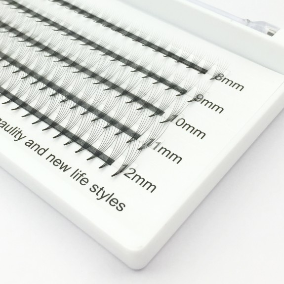 150PCS Wholesale C D Curl 0.07mm 0.1mm Thickness 8-12mm mix length and 11-15mm Single Length 6D Volume Eyelashes Extensions