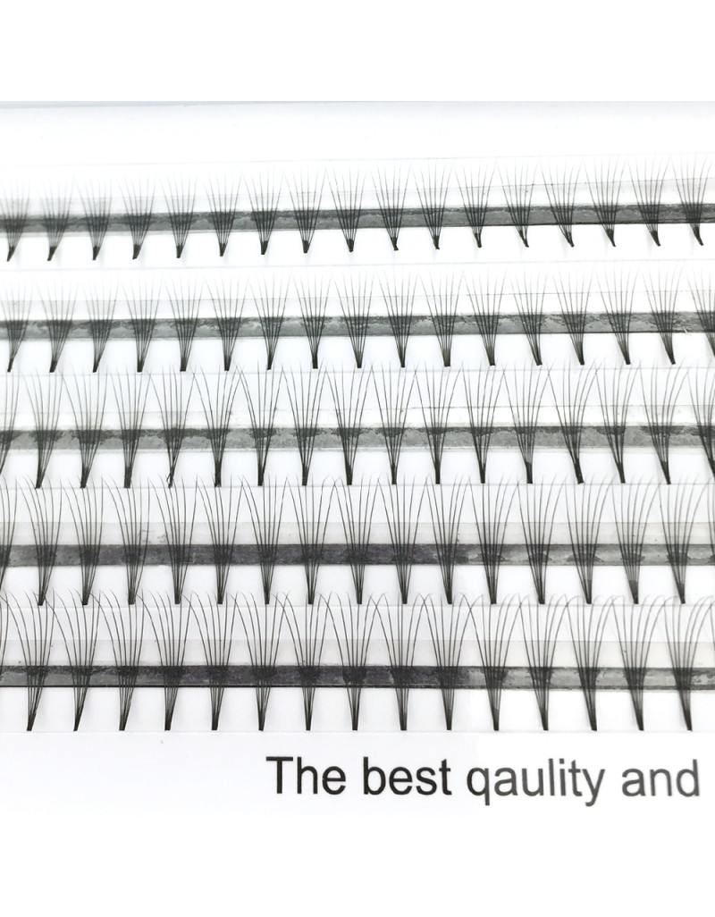 150PCS 6D Volume Eyelashes Extensions Russian Cluster Individual Eyelashes Professional Volume C Curl Lash Extensions 0.07 Thickness(6D) wholesale vendors