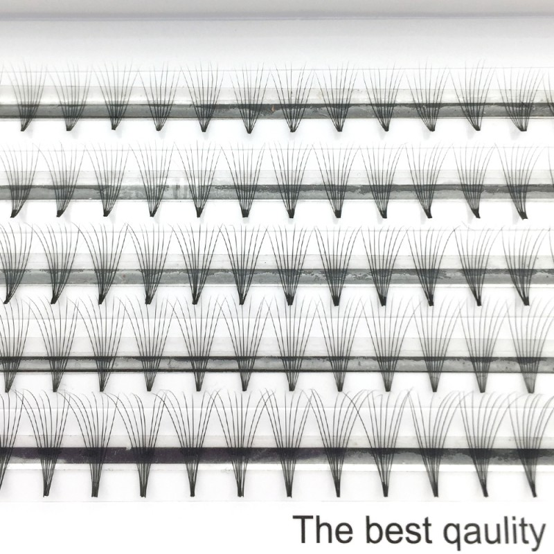 C D Curl 0.07mm 0.1mm Thickness 8-12mm Mix Length and 11mm-15mm Single Length 8D Premade Volume Eyelash wholesale