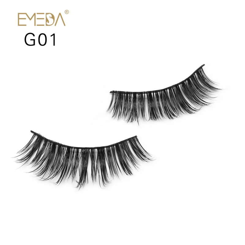 100% Real Mink Fur 3D Strip Lashes G01