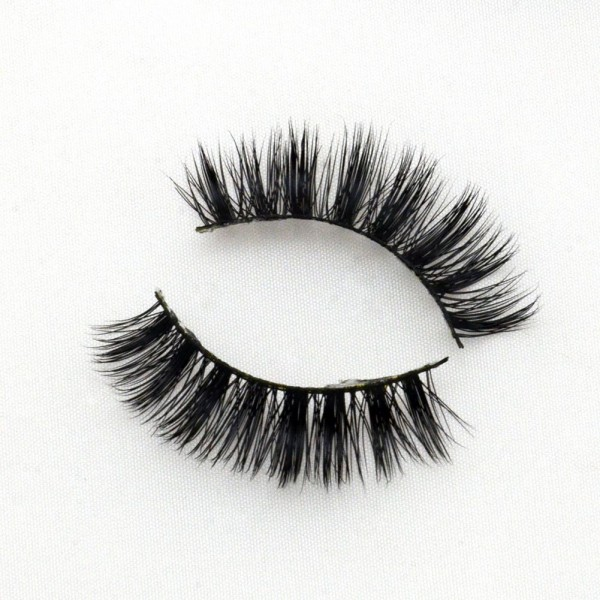 Black Cotton Band 100% Real Mink Fur 3D Strip Lashes G001