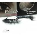100% Real Mink Fur 3D Strip Lashes G02